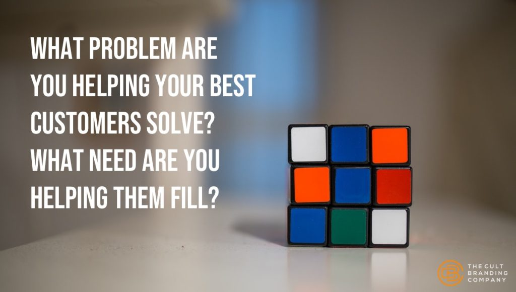 What problem are you helping your best customers solve? What need are you helping them fill?