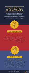 Two Keys to Brainstorming Infographic