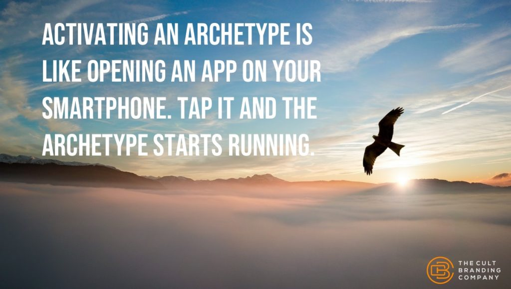 Activating an archetype is like opening an app on your smartphone. Tap it and the archetype starts running.