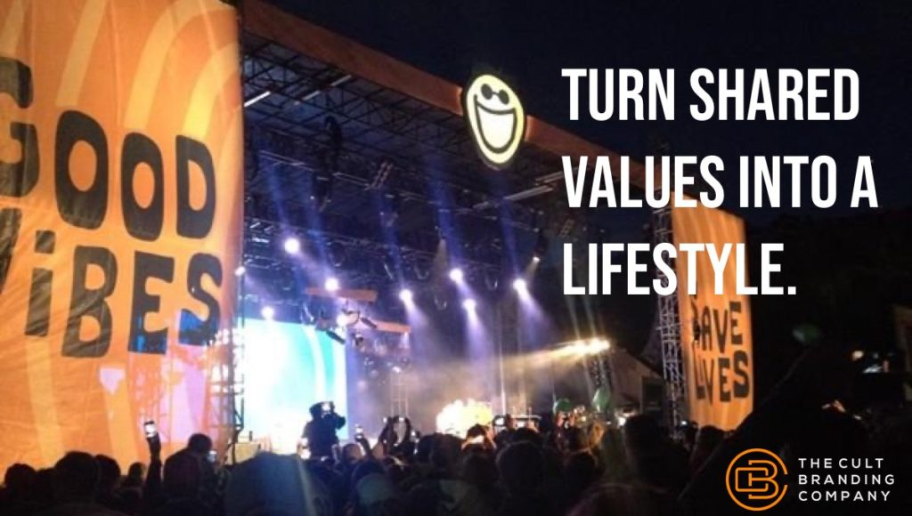 Turn Shared Values into a lifestyle.