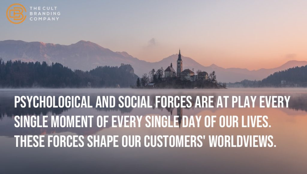psychological and social forces are at play every single moment of every single day of our lives. These forces shape our customers' worldviews.