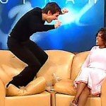 Tom Cruise jumping on the couch declaring his love, on the Oprah show.